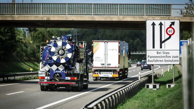 Die A1 soll zwischen Aarau Ost und Birrfeld ausgebaut werden, und zwar auf 6 Spuren.