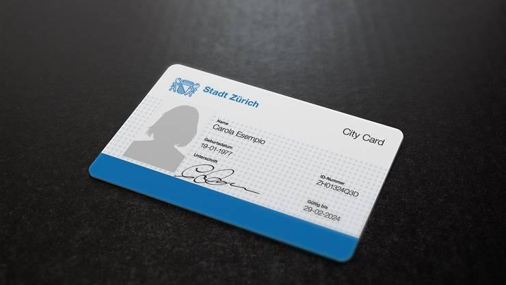 Die Identitätskarte für die Zürcher Stadtbevölkerung: So könnte eine Züri City Card aussehen.