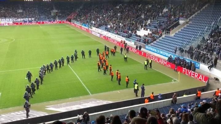 Erste Stadionverbote nach Spielabbruch FCL-GC