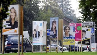 Ein Wahlplakat nach dem anderen stand 2011 in Uetikon am See: Die Gemeinden im Kanton Zürich gehen unterschiedlich mit der politischen Werbung entlang der Strassen um.