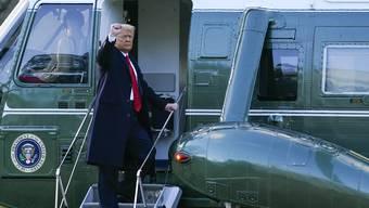 Donald Trump verabschiedet sich kurz vor der Amtseinsetzung von Präsident Joe Biden.