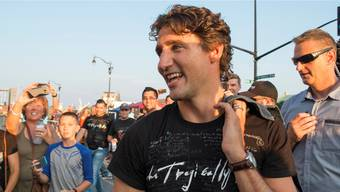 Nicht nur Politiker: Kanadas Premier Justin Trudeau am Konzert der Band Tragically Hip.