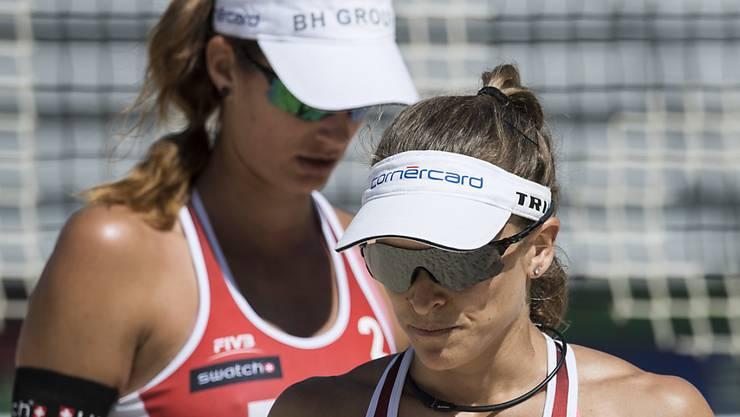 Enttäuschung für Nadine Zumkehr (vorne) und Joana Heidrich beim Major-Series-Turnier in Gstaad. Sie müssen mit einem 25. Rang abreisen