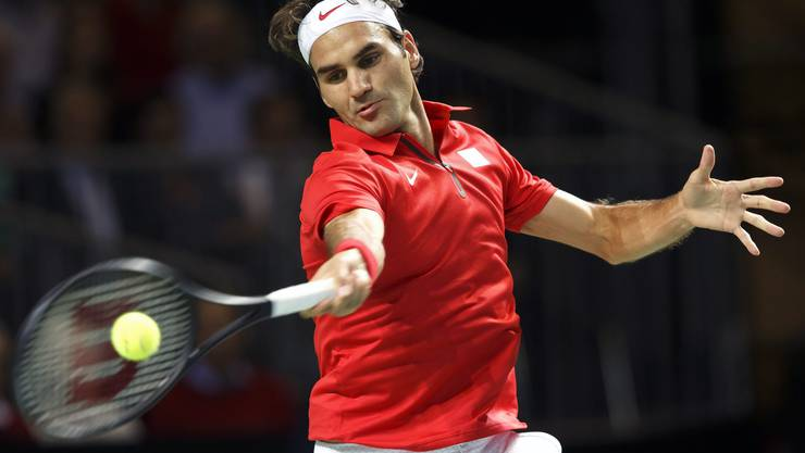 Federer im Element