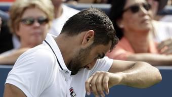 Böse Überraschung: Marin Cilic, US-Open-Champion von 2014, fand gegen den Aufschlag von Jack Sock kein Mittel
