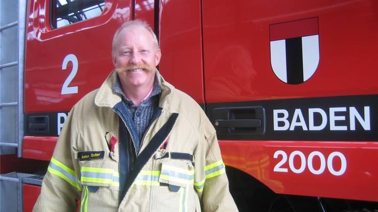 Badens Kommandant Toni Suter im Feuerwehrmagazin.