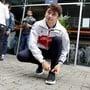 Charles Leclerc schnürt 2019 seine Schuhe als Ferrari-Pilot