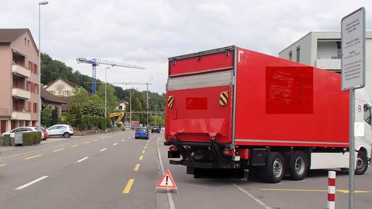 Der Unfall ereignete sich an der Aarauerstrasse.