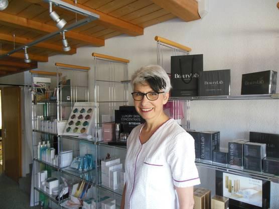Die Geschäftsführerin von Kosmetik Portmann: Monica Hauser-Portmann.