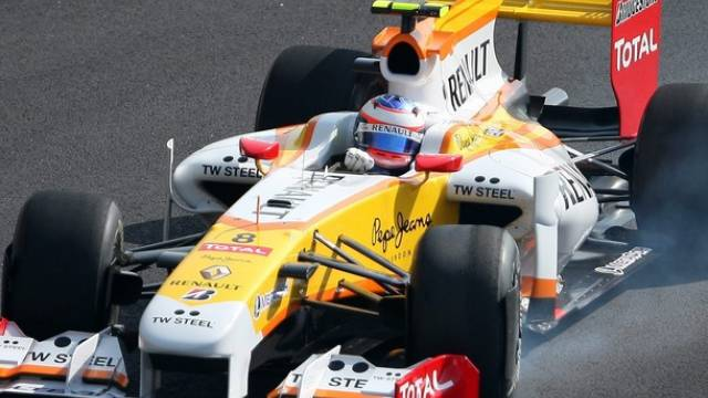 Romain Grosjean im Renault