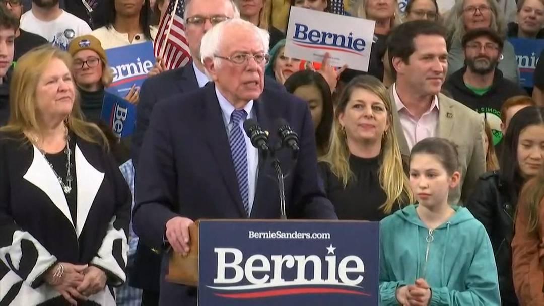Vorwahlen in den USA: Bernie Sanders siegt in New Hampshire