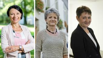 Fery, Bally und Roth: Die drei Regierungsratskandidatinnen für den zweiten Wahlgang.