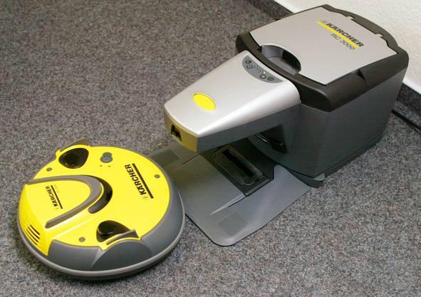 Staubsauger-Roboter als Haushaltshilfe.
