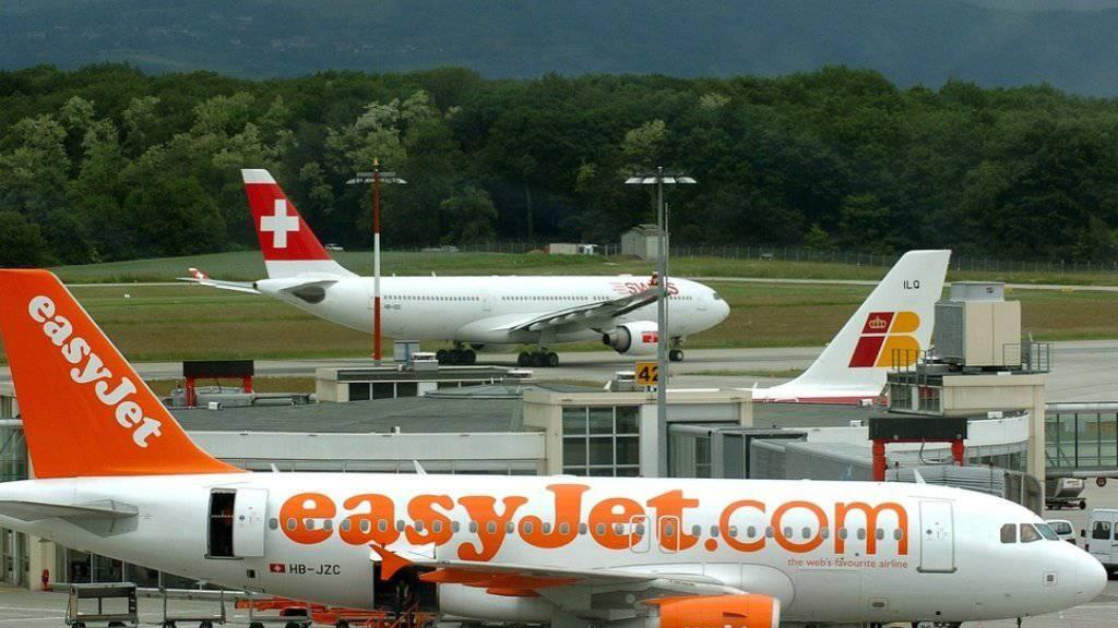 In Genf bekommt Swiss die Konkurrenz durch Billiganbieter Easyjet zu spüren. (Archiv)