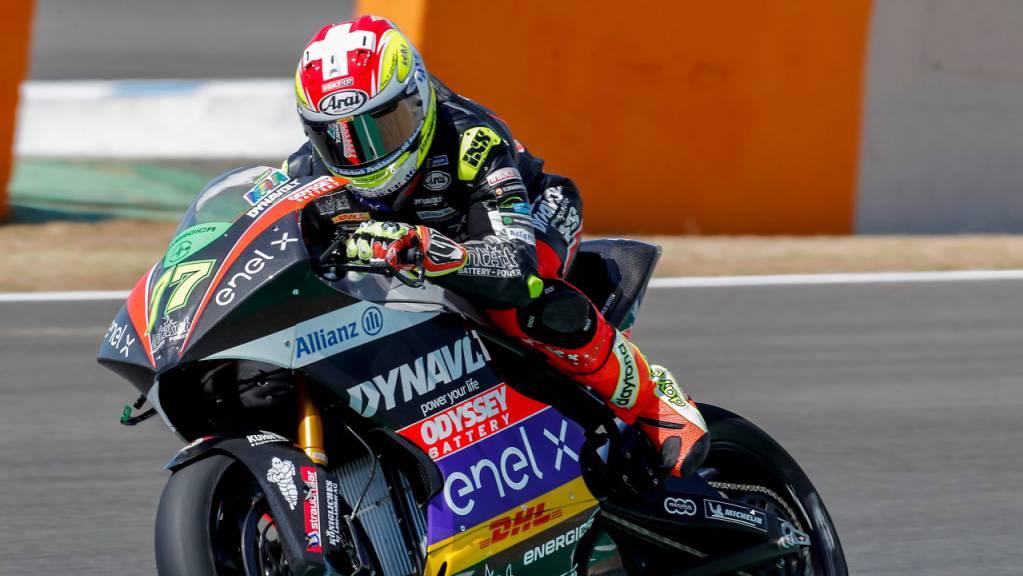 Geglücktes Debüt in der MotoE-Klasse: Dominique Aegerter auf dem Circuit in Jerez.