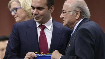 Der internationale Sportgerichtshof CAS lehnte den Antrag von Prinz Ali (links) für die Verschiebung der Wahl des Nachfolgers von FIFA-Präsident Sepp Blatter ab
