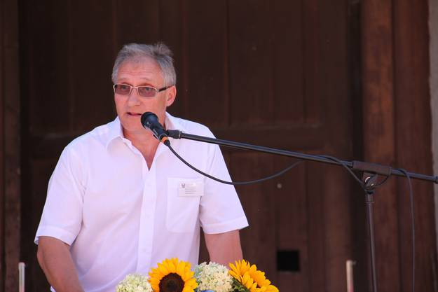 Gemeindeammann bei seiner Festansprache