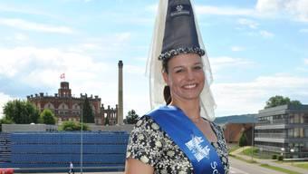 Severine Zenger darf als Schlossfräulein von Feldschlösschen ans Schwingfest.
