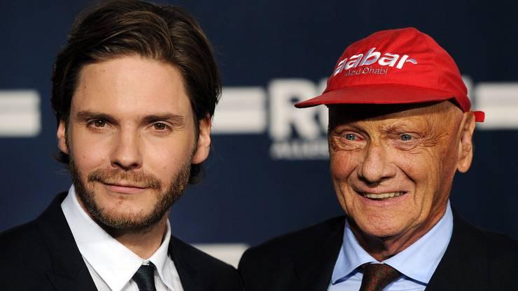 Der deutsche Schauspieler Daniel Brühl verkörpert Niki Lauda in der Hollywood-Filmbiografie «Rush» (2013).