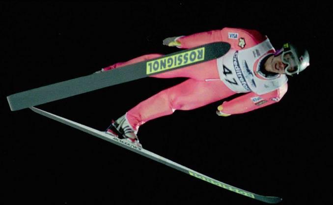 Noriaki Kasai im Jahre 1998. Da war er bereits 10 Jahre aktiver Skispringer.