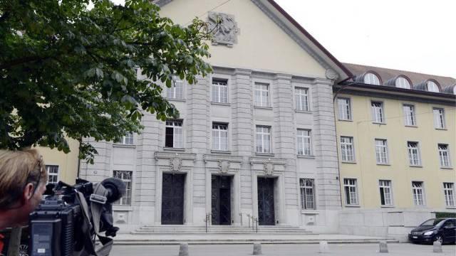 Der Eingang des Zürcher Bezirksgerichts (Symbolbild)