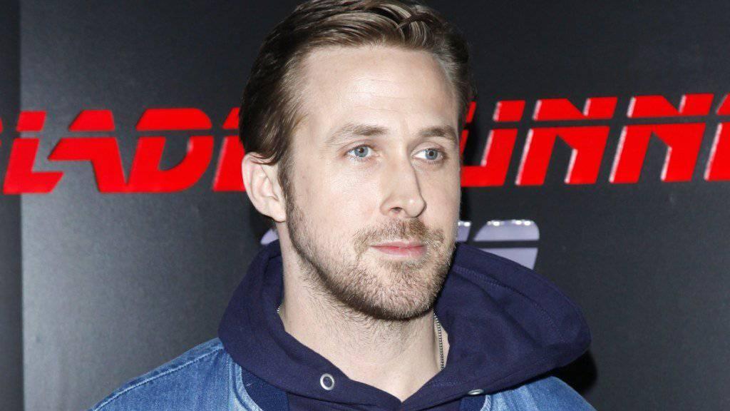 Der kanadische Filmschauspieler Ryan Gosling stellte zusammen mit Harrison Ford den Trailer zu seinem Film «Blade Runner 2049» vor.