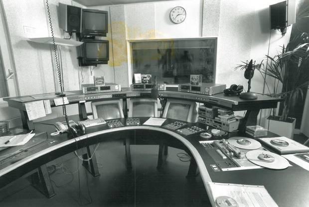 Das alte Studio von Radio 24, 1994