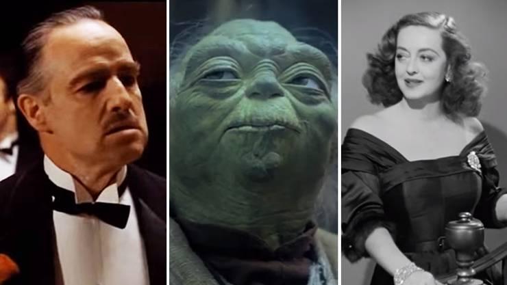 Marlon Brando, Jedi-Meister Yoda, Bette Davis: Sie bleiben auch dank legendären Filmzitaten in Erinnerung.