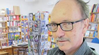 Der Buchhändler Hans Peter Wyss ist überzeugt, dass das gedruckte Buch eine Zukunft hat.