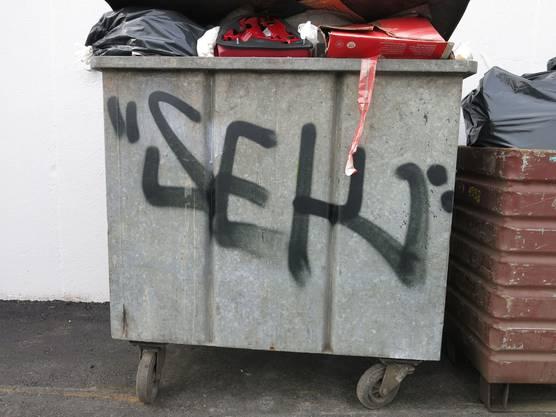 Insgesamt hat der Sprayer in Bellach mehrere 10'000 Franken Schaden verursacht