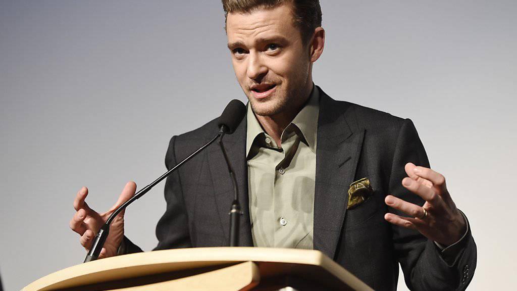 Justin Timberlake bedauert das Ende von Obamas Amtszeit. Und hofft, dass die weitverbreiteten Stand-Up-Acts gegen Donald Trump fruchten. (Archivbild 14.9.16)