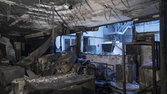 So sah es nach dem Brand vom 29. Dezember 2013 in Teilen der Fabrik aus.