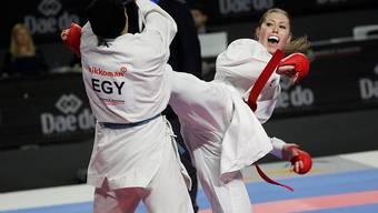Ramona Brüderlin (rechts) verlor ihren Kampf um WM-Bronze in der Kategorie über 68 kg