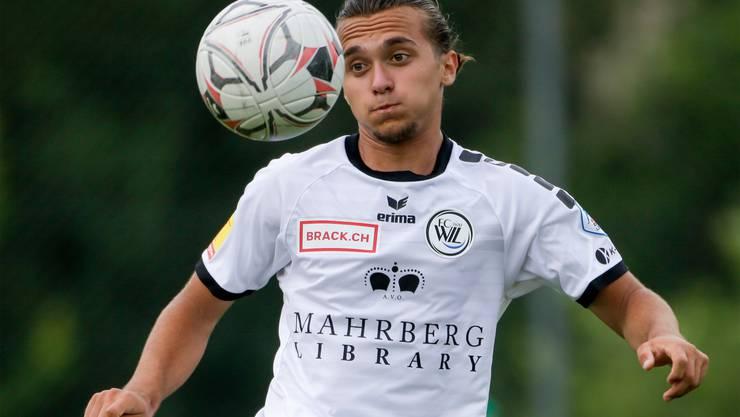 Bledian Krasniqi, der Leihspieler vom FC Zürich, war einer der auffälligen jungen Wiler im Spiel gegen Lustenau.
