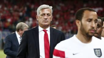 Ein bedienter Nationaltrainer Vladimir Petkovic nach der 0:2-Niederlage gegen England.