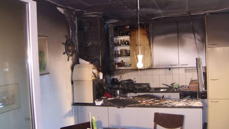 Küchenbrand in Muttenz