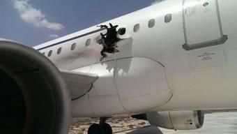Bombe reisst Loch in Airbus - Notlandung in Mogadischu