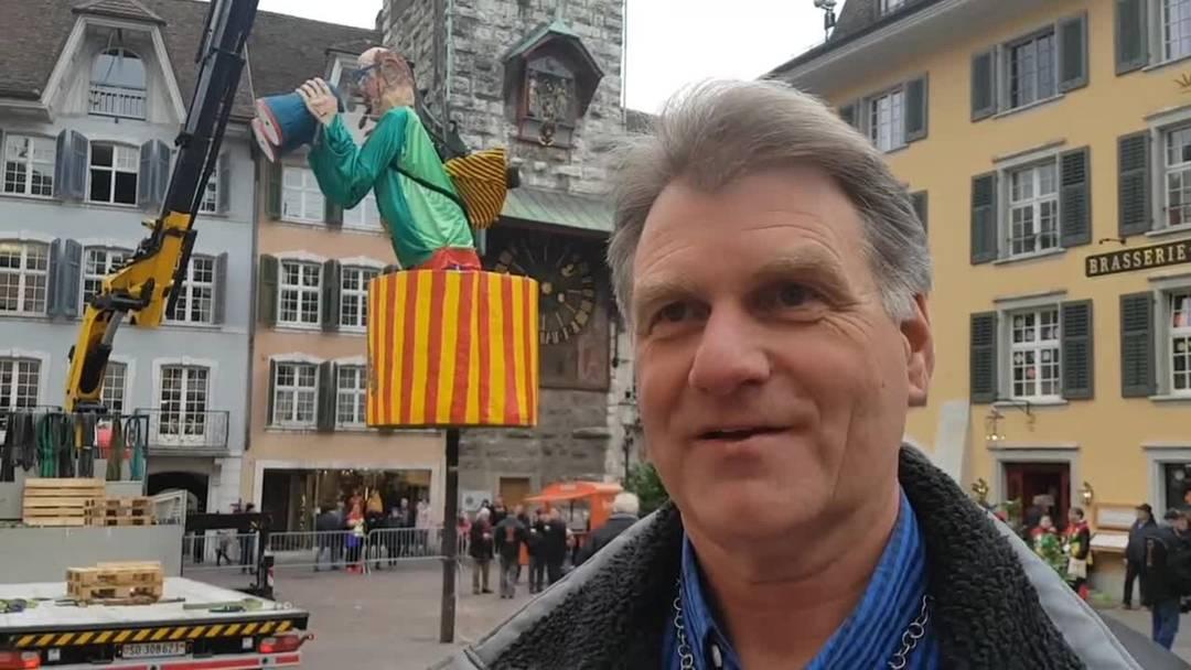Der Böögg in Solothurn blickt dieses Jahr nicht zufällig in Richtung Rathaus