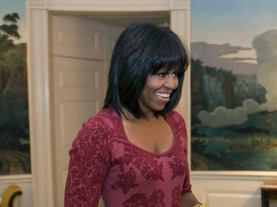 Neue Amtszeit, neues Lebensjahr, neuer Twitter-Account und - vor allem - neue Frisur: Michelle Obama