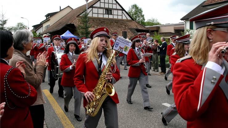 Wie damals 2010 in Riniken marschieren die Wittnauer auch heute in die vorderen Ränge. Archiv/AZ