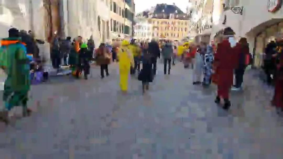 Kinderumzug Solothurn 2020: Am Donnerstag zogen Fasnachtsgruppen durch die Solothurner Gassen