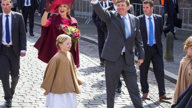 Die Königsfamilie am Montag in Dordrecht