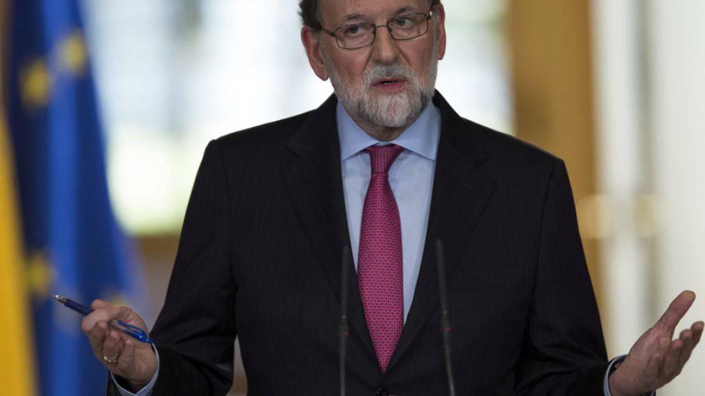 Der spanische Ministerpräsident Mariano Rajoy ist für die konstituierende Sitzung des neugewählten katalanischen Parlaments am 17. Januar.