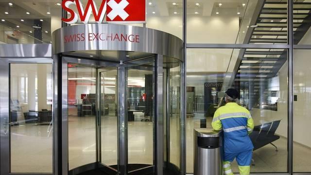 Eingang der Schweizer Börse in Zürich