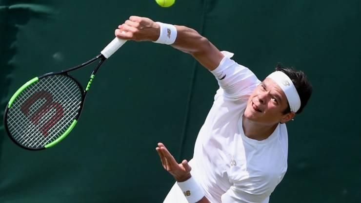 Milos Raonic, der Wimbledon-Finalist von 2016, klagte über den immer langsamer werdenden Rasenbelag