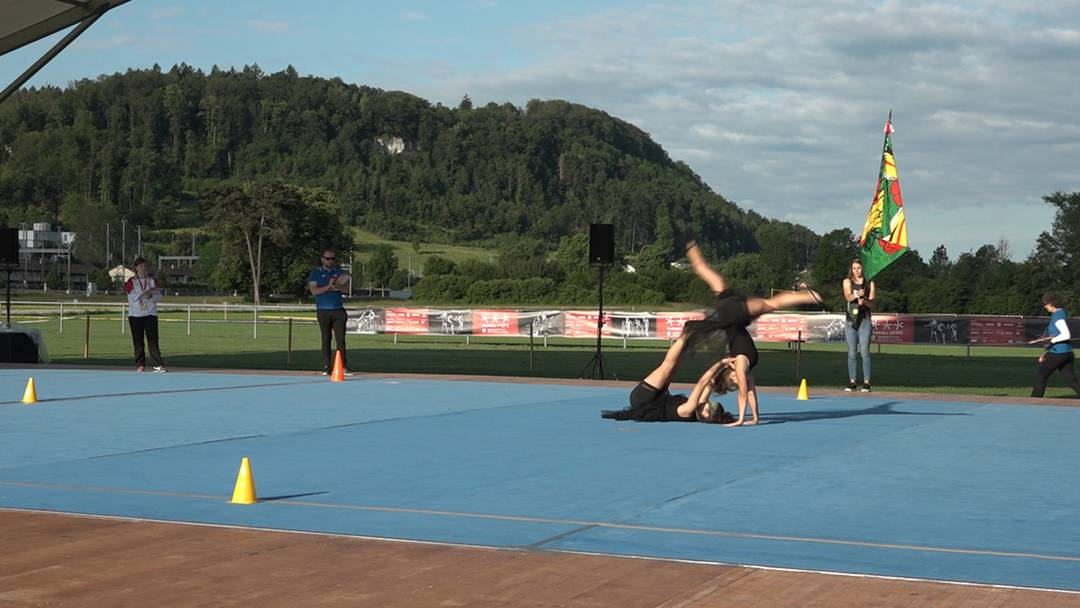 Gymnastik am Eidgenössischen Turnfest im Aarauer Schachen