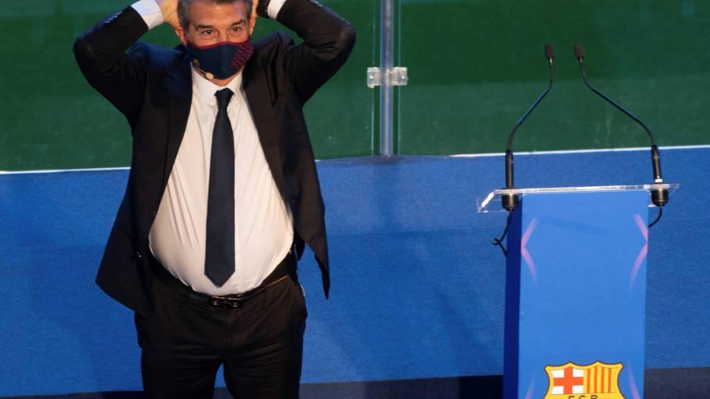 Joan Laporta will Lionel Messi halten und die Finanzen des Klubs in den Griff bekommen
