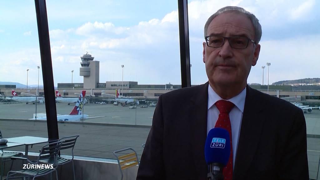 Bundespräsident Guy Parmelin besucht den Flughafen Zürich