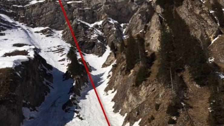 In einer schmalen Traverse zwischen Mutteriestock und Torbergsattel stürzte der 57-Jährige in den Tod.