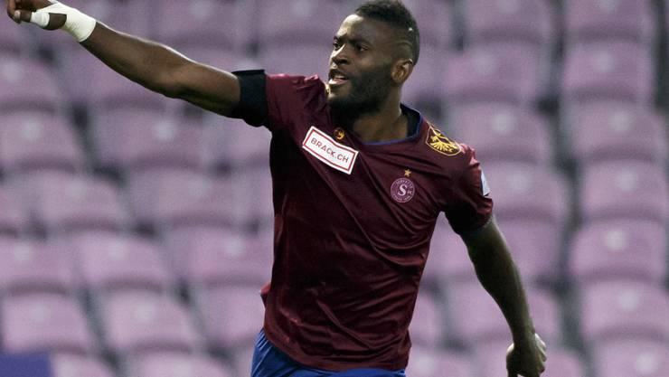 Servette-Stürmer Jean-Pierre Nsame erzielte gegen Le Mont bereits sein 17. Saisontor